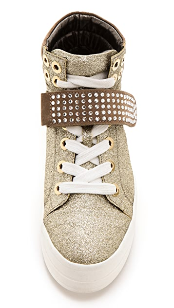 Sonia Rykiel Glitter High Top Sneakers