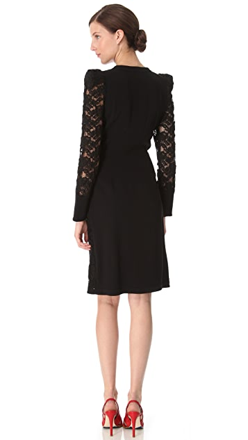 Sonia Rykiel Long Sleeve Lace Dress