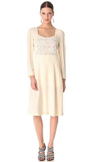 Sonia Rykiel Lace on Top Dress