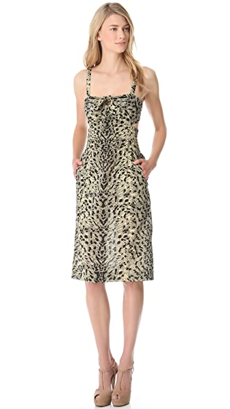 Sonia Rykiel Leopard Cutout Pencil Dress
