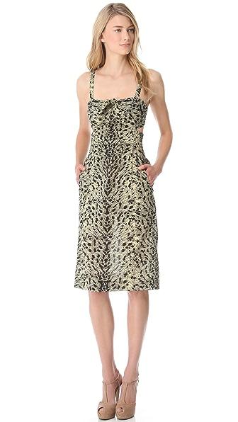 Sonia Rykiel Leopard Cutout Pencil Dress