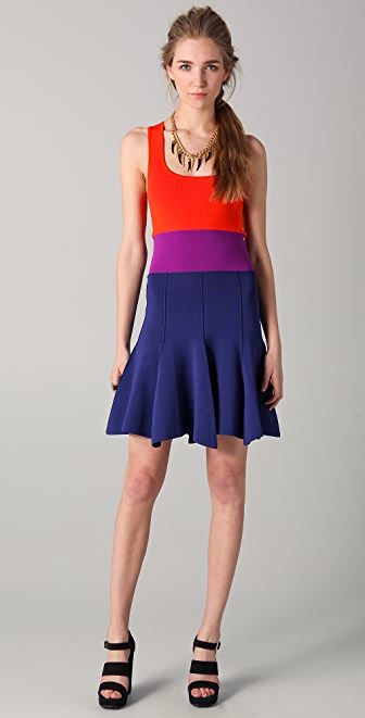 Sonia by Sonia Rykiel Colorblock Tank Dress