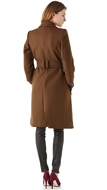 Sonia by Sonia Rykiel Knit Cuff Trench Coat