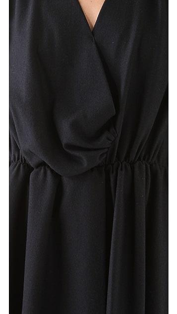Sonia by Sonia Rykiel V Neck Faux Wrap Dress