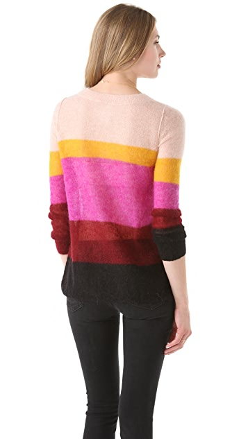 Sonia by Sonia Rykiel Striped Mohair Pullover