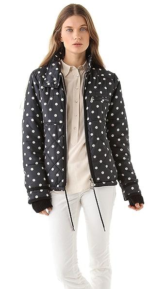 Sonia by Sonia Rykiel Polka Dot Puffer Coat