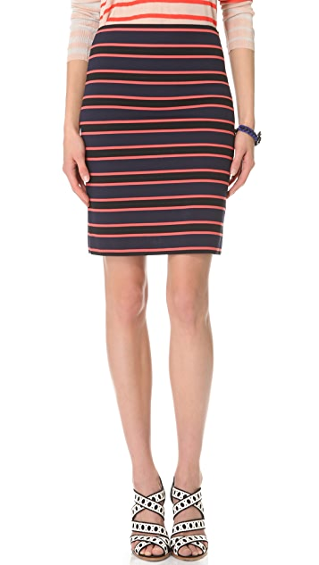 Sonia by Sonia Rykiel Stripe Pencil Skirt