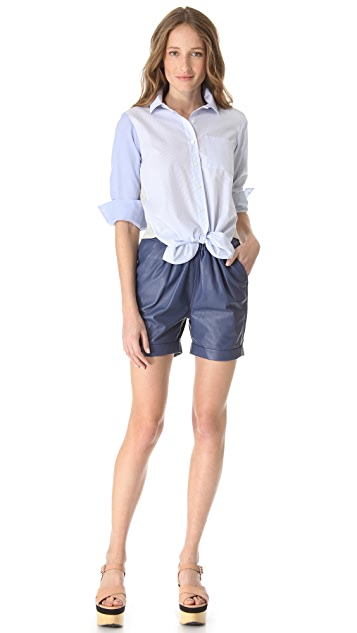 Sonia by Sonia Rykiel Cotton Combo Tie Shirt