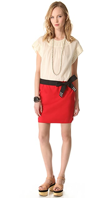 Sonia by Sonia Rykiel Colorblock Voile Dress