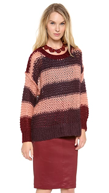 Sonia by Sonia Rykiel Striped Mohair Sweater