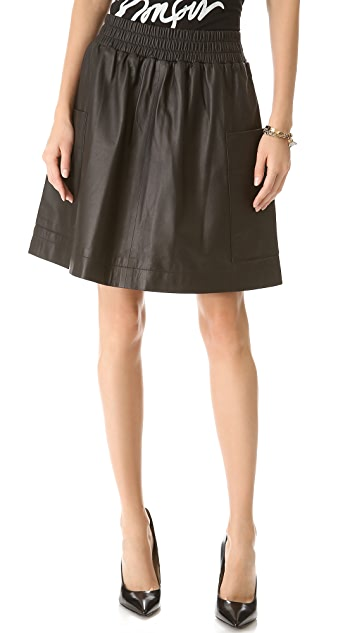 Sonia by Sonia Rykiel Leather Skirt