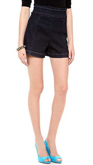 Sonia by Sonia Rykiel Denim High Waisted Shorts