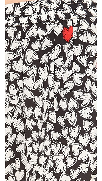Sonia by Sonia Rykiel Printed Heart Shorts