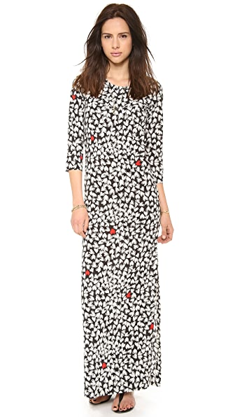 Sonia by Sonia Rykiel Printed Heart Maxi Dress