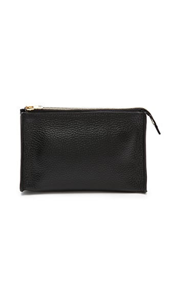 Sophie Hulme Gold Side Make Up Bag
