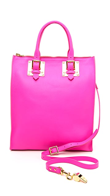 Sophie Hulme Soft Zip Top Buckle Tote