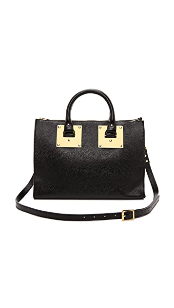 Sophie Hulme Mini Zip Top Bowling Bag