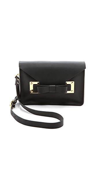 Sophie Hulme Bow Mini Envelope Bag