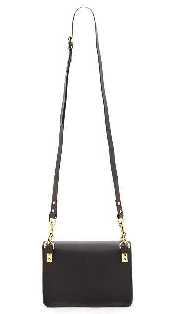 Sophie Hulme Bow Mini Envelope Bag
