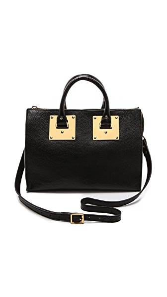 Sophie Hulme Stamped Zip Top Bag