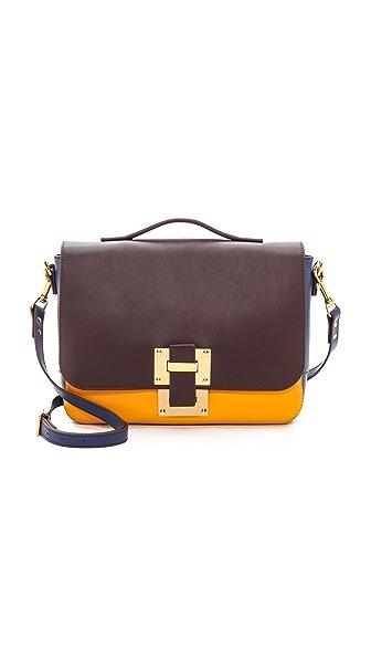 Sophie Hulme Medium Colorblocked Soft Flap Bag