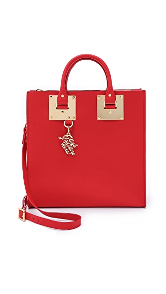 Sophie Hulme Large Square Tote - Red