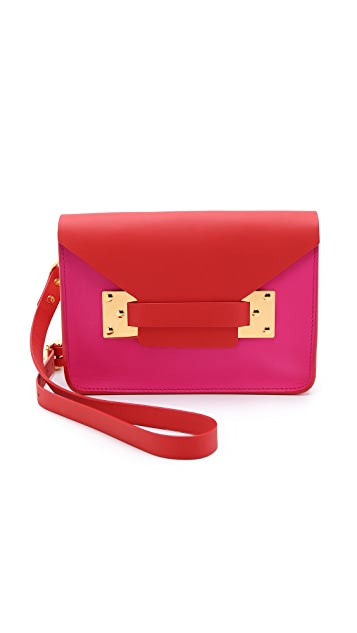 Sophie Hulme Colorblock Mini Envelope Bag