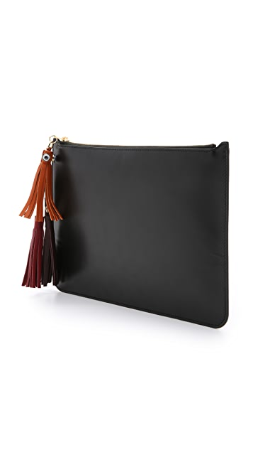 Sophie Hulme Large Pouch with Tassels