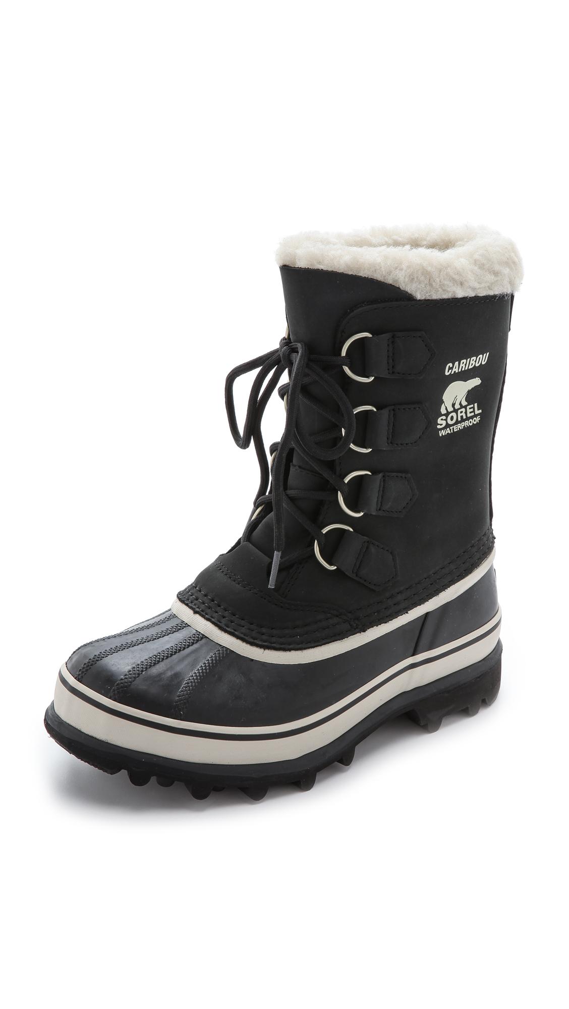 Sorel Caribou Boots - Black/Stone