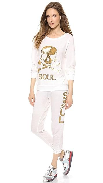SoulCycle Skull Hacci Scrunch Sweatpants