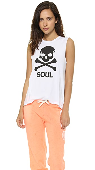 SoulCycle Skull Slashed Back Tank