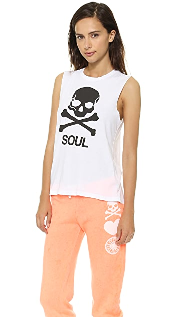 SoulCycle Skull Slashed Back Tank