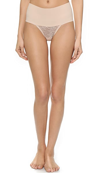 SPANX Undie-tectable Lace Thong In Soft Nude