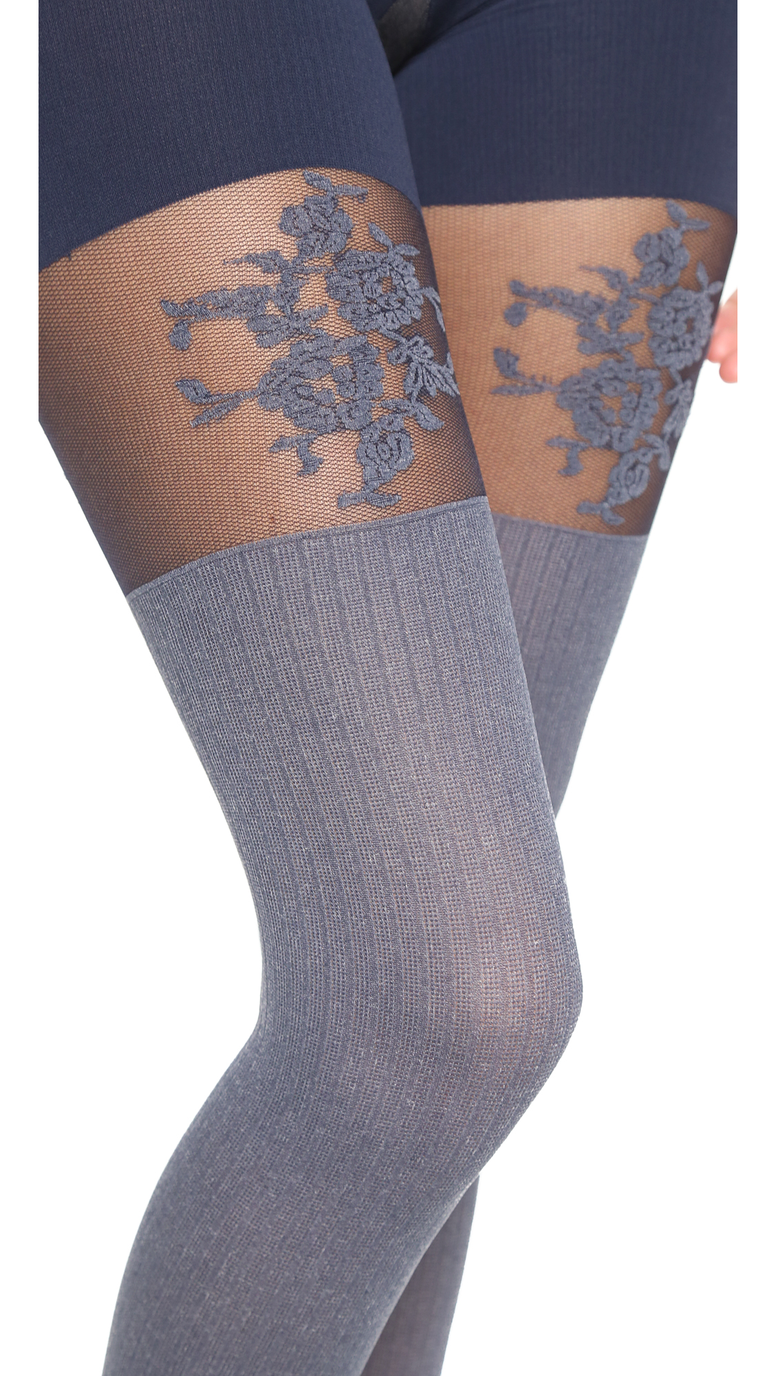 8b816e21bef SPANX Flora Lace Over the Knee Tights