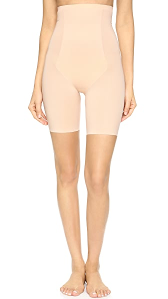 SPANX Thinstincts Targeted High Waist Shorts - Soft Nude