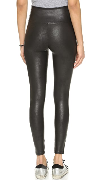 SPANX Cropped Faux Leather Leggings