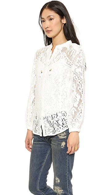 Spell and the Gypsy Collective White Dove Vintage Lace Blouse