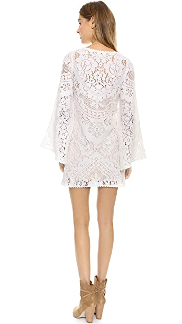 Spell and the Gypsy Collective White Dove Vintage Lace Mini Dress