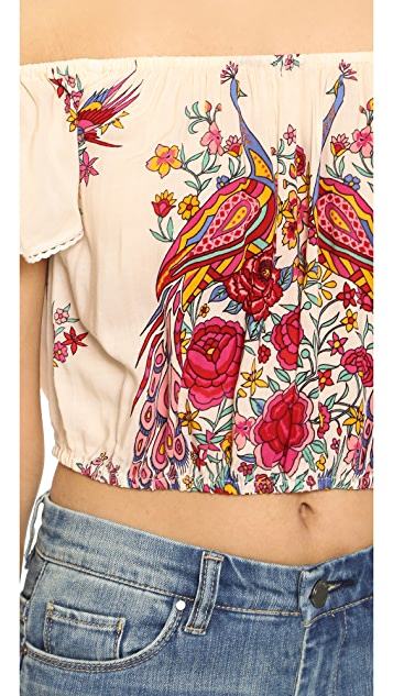 Spell and the Gypsy Collective Hotel Paradiso Off the Shoulder Crop Top