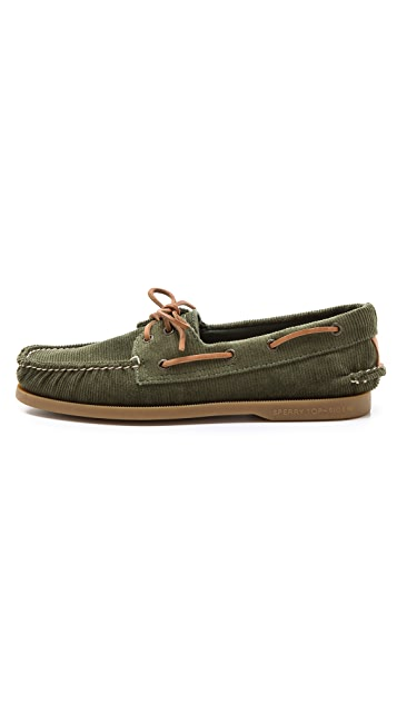 Sperry 2-Eye Corduroy Boat Shoes