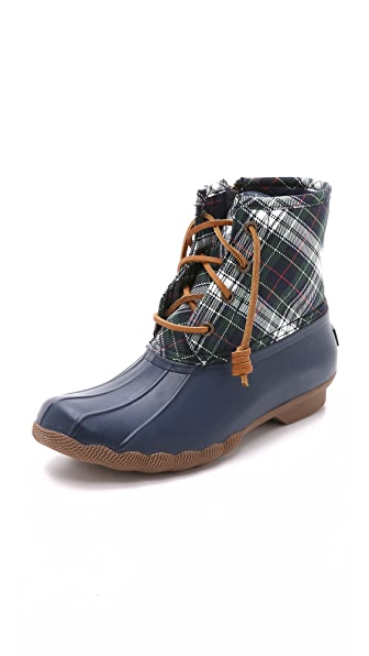 Sperry Saltwater Plaid Booties