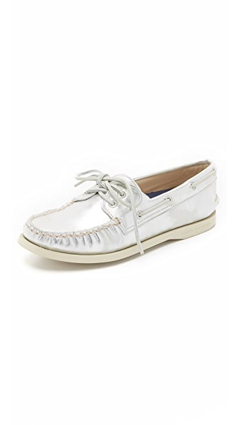 Sperry A/O 2-Eye Metallic Boat Shoes