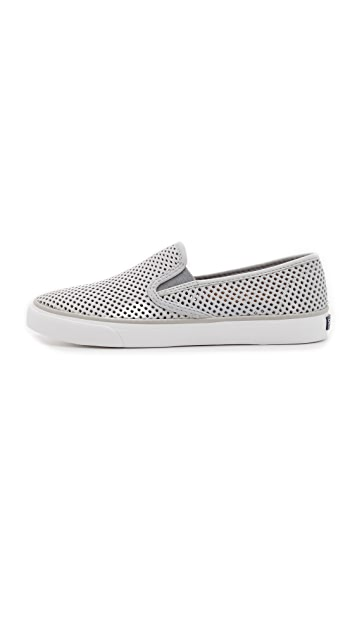 Sperry Seaside Perforated Slip On Sneakers