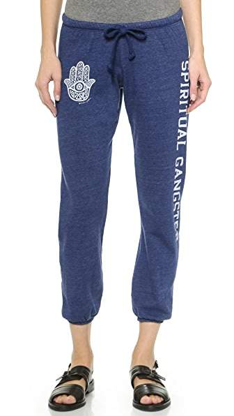 Spiritual Gangster Cropped Varsity Sweats