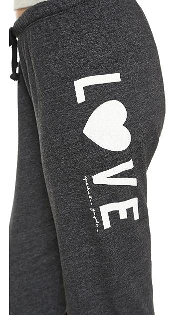 Spiritual Gangster Love Heart Sweatpants