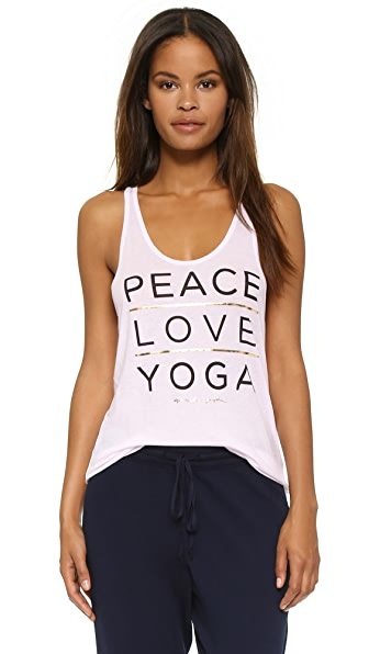 Spiritual Gangster Peace, Love, Yoga Tank
