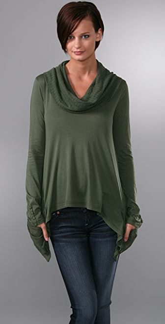 Splendid Very Light & Fashionable Jersey Cowl Top