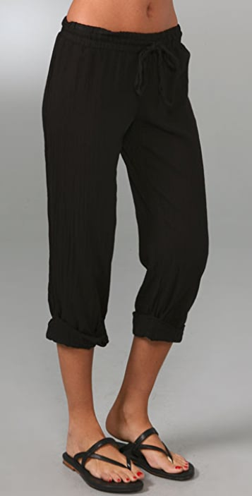 Splendid Cotton Gauze Rolled Pants