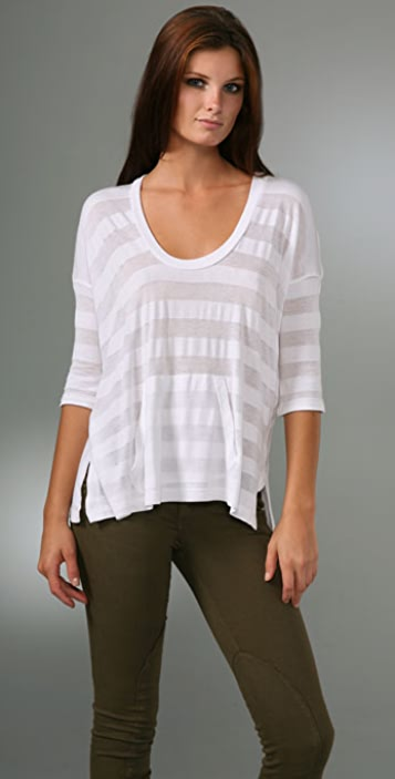 Splendid Shadow Stripe Top