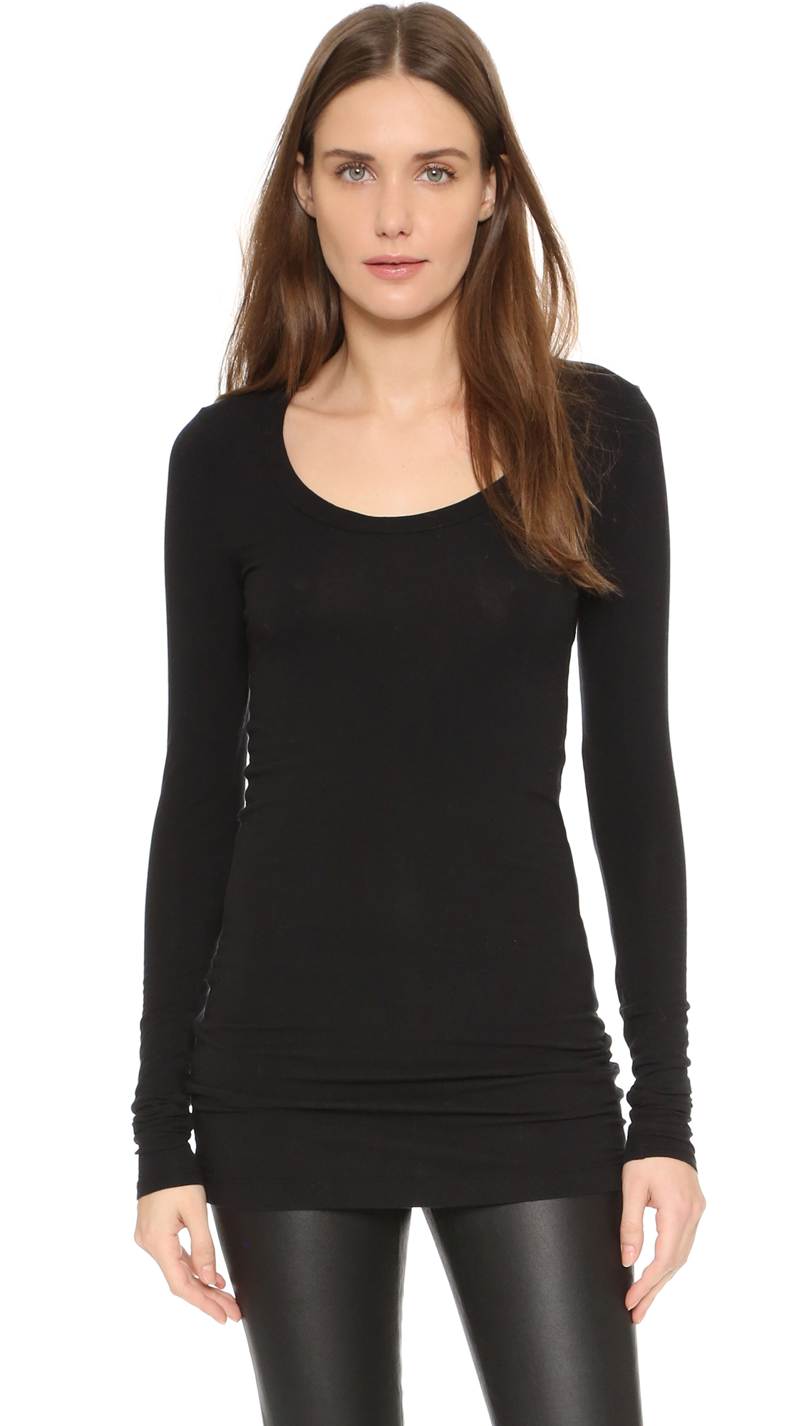Splendid Layers Long Sleeve Tee - Black